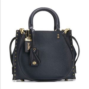 coach rogue 25 tote with stud